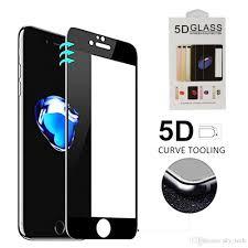 شاشة حماية ضد الكسرتغطي كامل الشاشة من الزجاج 5D آيفون 6 7 8